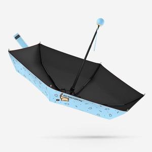 Image 3 - OLYCAT Carino Mini Ombrello Gatto Ultralight Tasca Bambini Ombrelli Cinque Pieghevole di Protezione Del Sole Antivento Del Fumetto Ombrello Pioggia Donne