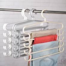 5 layers S Shape MultiFunctional Clothes Hangers Storage for clothes Scarf Pants Towel Hanger Wardrobe Organizer Storage Clothes