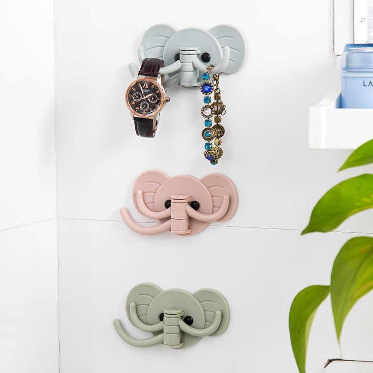 家の装飾フッククリエイティブと素敵な象壁掛けフック、送料、バックフック、キーフック、装飾フック