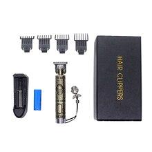 Saç kesme t blade elektrikli makası seti, profesyonel Baldheaded saç düzeltici erkekler için, elektrikli USB şarj edilebilir ev saç kesimi