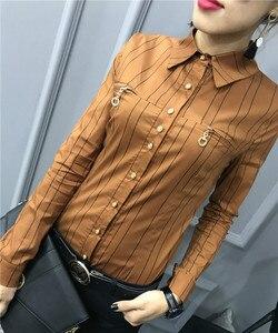 Рубашка женская, с длинным рукавом и геометрическим принтом, 2019