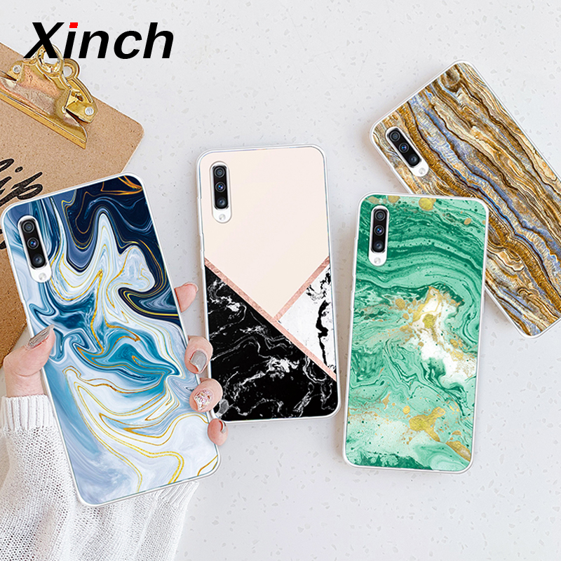 Xinch Marble Case For Samsung Galaxy A50 A40 A30 A20 A10 Back Cover For Samsung A70 A80 A90 Phone Coque on Soft TPU Silicon Skin image
