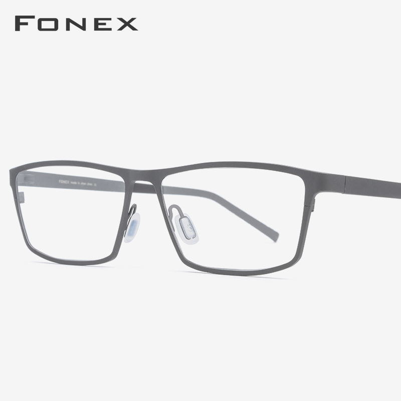 Pure Titanium Eyeglasses Frame 2019 Prescription Eye Glasses for Men Square Myopia Optical Glasses Frame Man Japan Eyewear 871 image