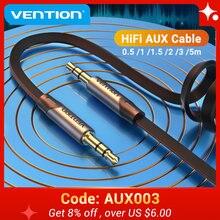 Vention Câble Auxiliaire Jack 3.5mm Mâle à Mâle 3.5 Jack Câble Audio pour JBL Xiaomi Redmi Voiture Haut-Parleur Casque Câble de Corde Aux 5 m