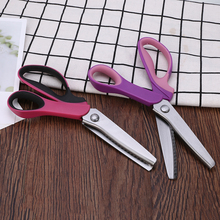 1pc Professional Tailor Scissor Stainless Steel Shears Tailors Leather Handicraft Fabric Shear Dressmaking Zig Zag Scissors