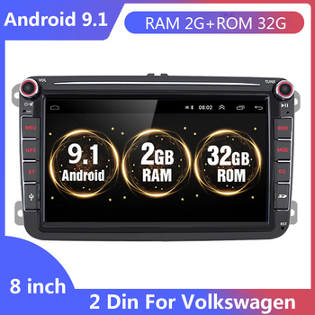 Android 9.1 Car Multimedia player 2 Din Car Autoradio Radio GPS Stereo For VW/Volkswagen/Golf/Polo/Passat/b7/b6/SEAT/leon/Skoda image