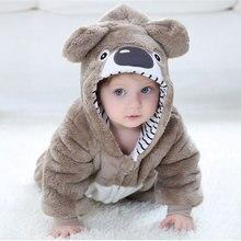 아기 RomperToddler 소년 소녀 코알라 의상 Kawaii 귀여운 따뜻한 Onesie 신생아 유아 동물 Jumpsuit 겨울 옷 Kigurumis pyjama
