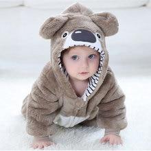 赤ちゃん rompertoddler 少年少女コアラ衣装かわいいかわいい暖かいカバーオール新生児幼児動物ジャンプスーツ冬服 kigurumis パジャマ