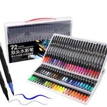 Двойные маркеры цветные и кисть текстовыделитель для взрослых