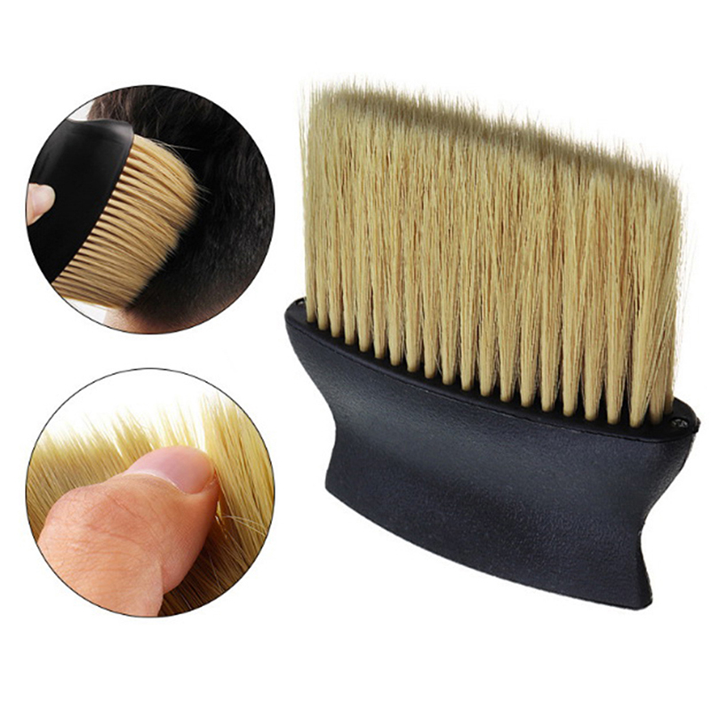 New Soft Neck Face Hair Cleaning Brush Dust Broken Remove Comb Haircutting Shaving Brush Hair Style Accessories Salon Tool