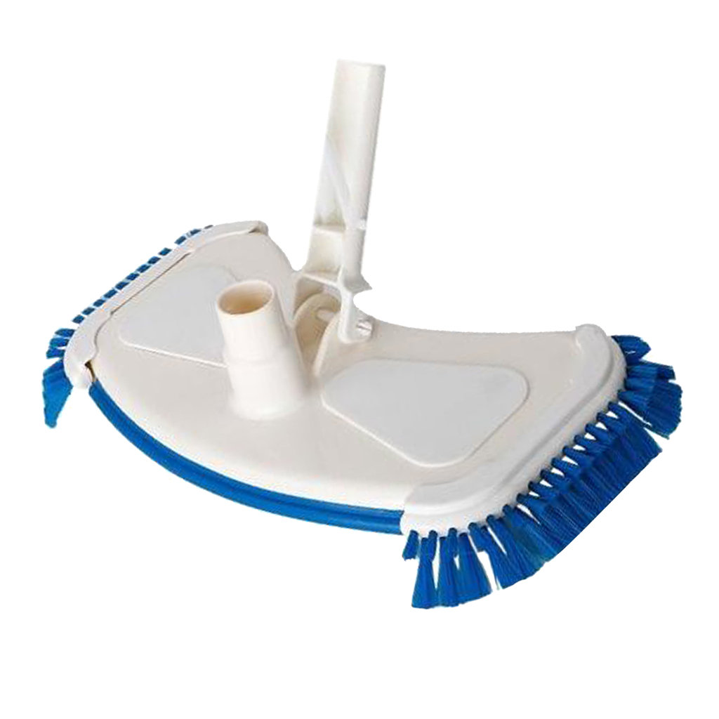 Pro Pool Vacuum Head With Wheels, Flex Swimming Pool Vacuum Head, Weighted Attachment For Concrete Or Plaster Pool