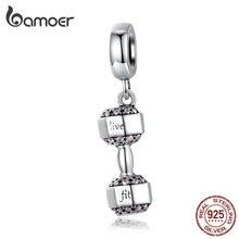 Bamoer, настоящая 925 пробы, серебряная подвеска, Шарм для женщин, 925, браслет-змея, ожерелье, бумбелл, спортивный дизайн SCC1340