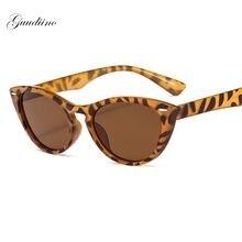 Модные леопардовые солнцезащитные очки кошачий глаз для женщин