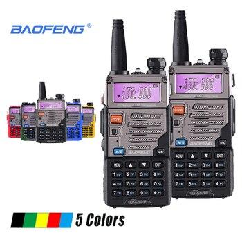 2pcs Baofeng UV-5RE Walkie Talkie UHF VHF Walky Talky Professional CB Radio HF Transceiver UV-5R UV 5R 5 Colors