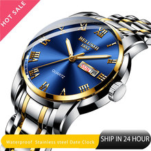 Belushi קלאסיקות שעון קוורץ שעונים גברים יוקרה מותג שעון גברים עמיד למים נירוסטה זהב תאריך שעון relogio masculino