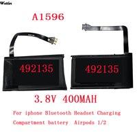 Batería A1596 Real de 400mAh para Airpods 1 y 2, caja de carga inalámbrica, A1596 020-00098