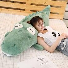 Soft Stuffed Animal Real Life Alligator Pillow Doll Creative Simulation Crocodile Plush Toy Nap Pillow Baby Kid Birthday Gift