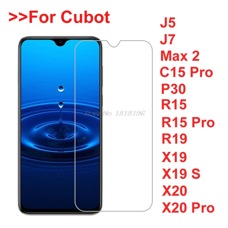 2PCS Tempered Glass For Cubot P30 R15 Pro X20 Pro Max 2 Safety Protective Film on Cubot J5 J7 C15 Pro X19 S Screen Protector(China)