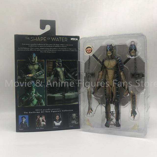 20cm 원래 neca 물 양서류 남자의 모양 움직일 수있는 액션 피규어 pvc 컬렉션 모델 장난감 선물