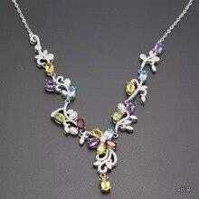 Различные цветные ожерелья из драгоценных камней, оптовая цена, серебро 925 пробы, качество счетчика, новый стиль.