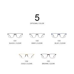 Image 5 - MERRYS DESIGN Men Titanium Alloy Glasses Frame Business Style Male Square Ultralight Eye Myopia Prescription Eyeglasses S2170