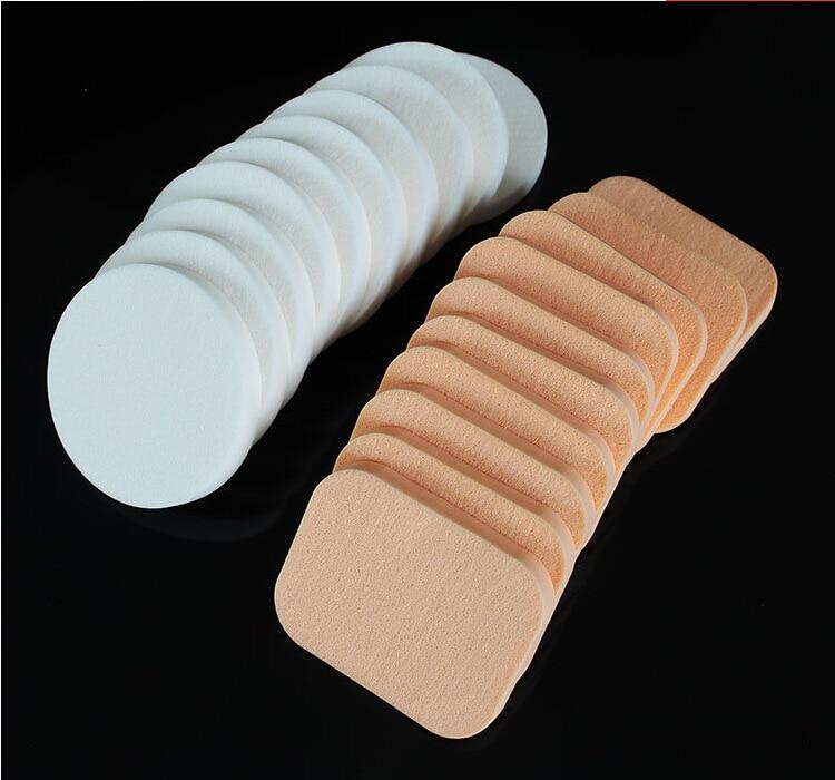 Esponja cosméticos puff 10 pçs compõem esponja rosto macio mulher senhora beleza maquiagem fundação contorno esponjas faciais pó sopro