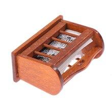 1Pc 1/12 skala domek dla lalek miniaturowa drewniana półka na książki śliczne Mini akcesoria gazeta stojak zabawki lalki dom akcesoria