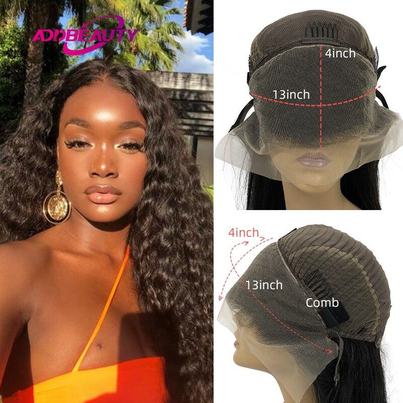 Натуральные волны 13x4, фронтальные парики на сетке для черных женщин, 4x4, искусственные бразильские натуральные человеческие волосы, парики ...