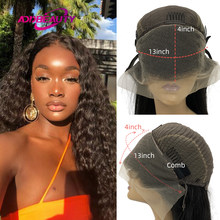 Natural Wave 13x4 Lace Frontal Wigs For Black Woman 4x4 Lace Closure Custom Wig Brazilian Virgin Human Hair Wigs 250% Density