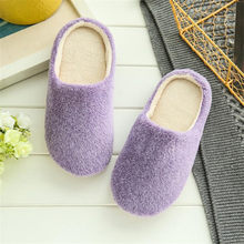 Winter Plush Slippers 2019 Women Indoor House Soft Cute Cotton Slippers Shoes Non-slip Floor Home Slippers Slides for Bedroom(China)