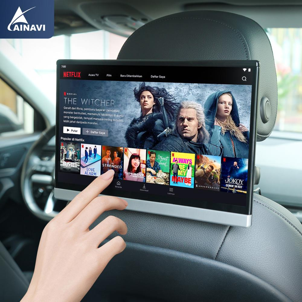 Car TV Headrest Monitor Touch Screen 13 3 Inch Android 9 0 4K 1080P WIFI Bluetooth USB SD HDMI FM Mirror link movie Video player