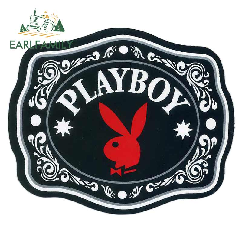 EARLFAMILY 13cm X 10.7cm For Playboy Bunny Funny Car Stickers Fashion Occlusion Scratch Waterproof 3D Stickers Decal Decoration