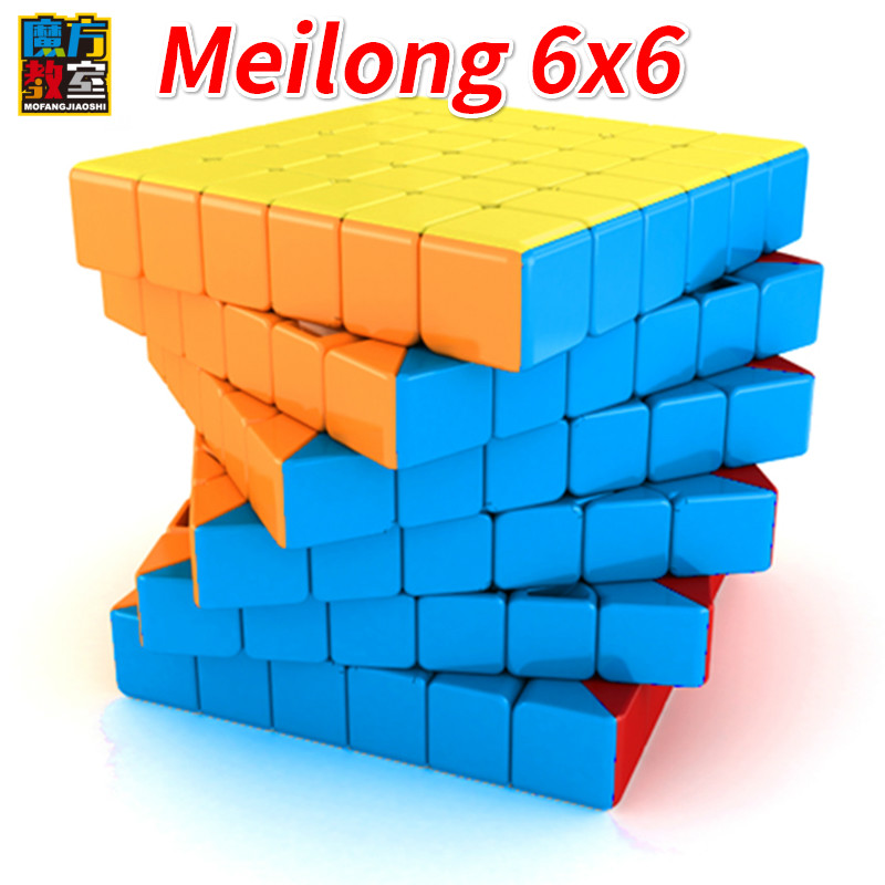Moyu Cubing Classroom Meilong 6x6 Speed Cube Black  Magic Puzzle Color Stickerless 6*6 Neo Cubo Toys For Children 6x6x6