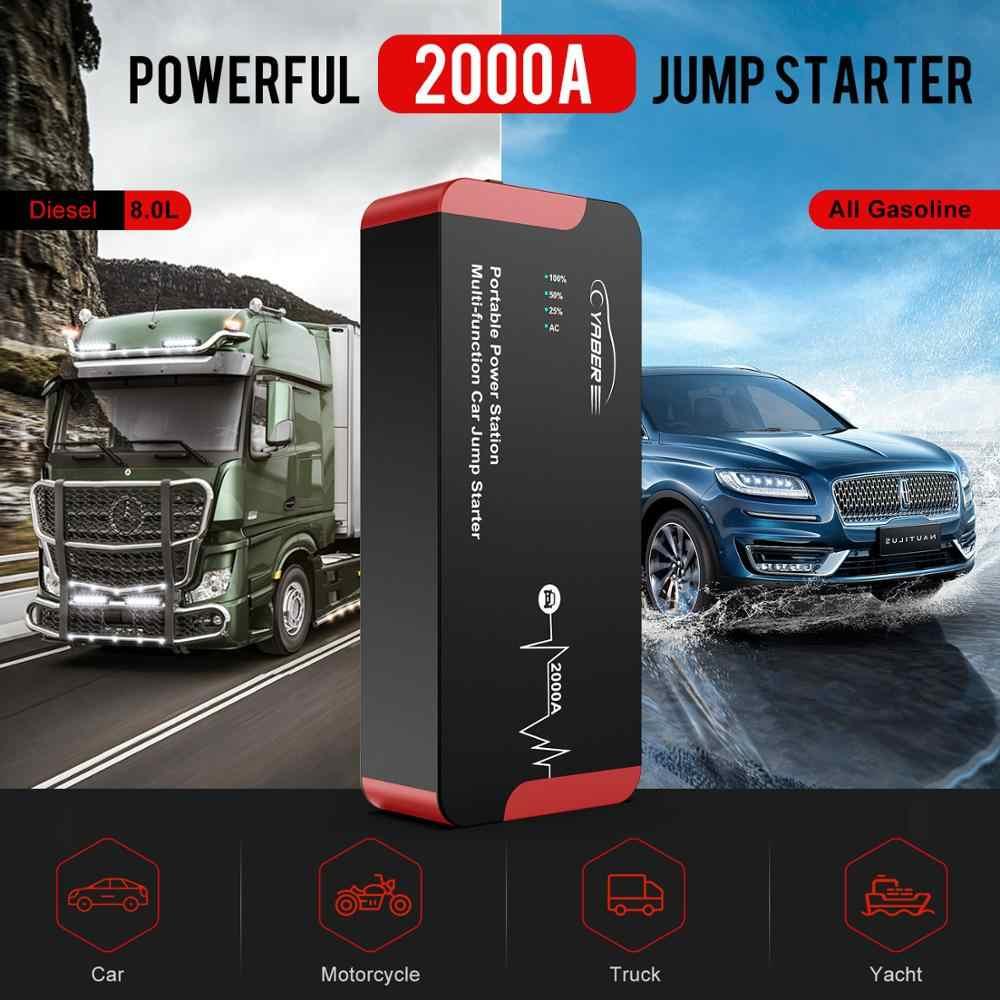 Yaber YR700 Jump Starter 2000A Emergency Auto Jump Starter Batterij 22000Mah Power Bank Auto Booster 100W Draagbare Ac auto Booster