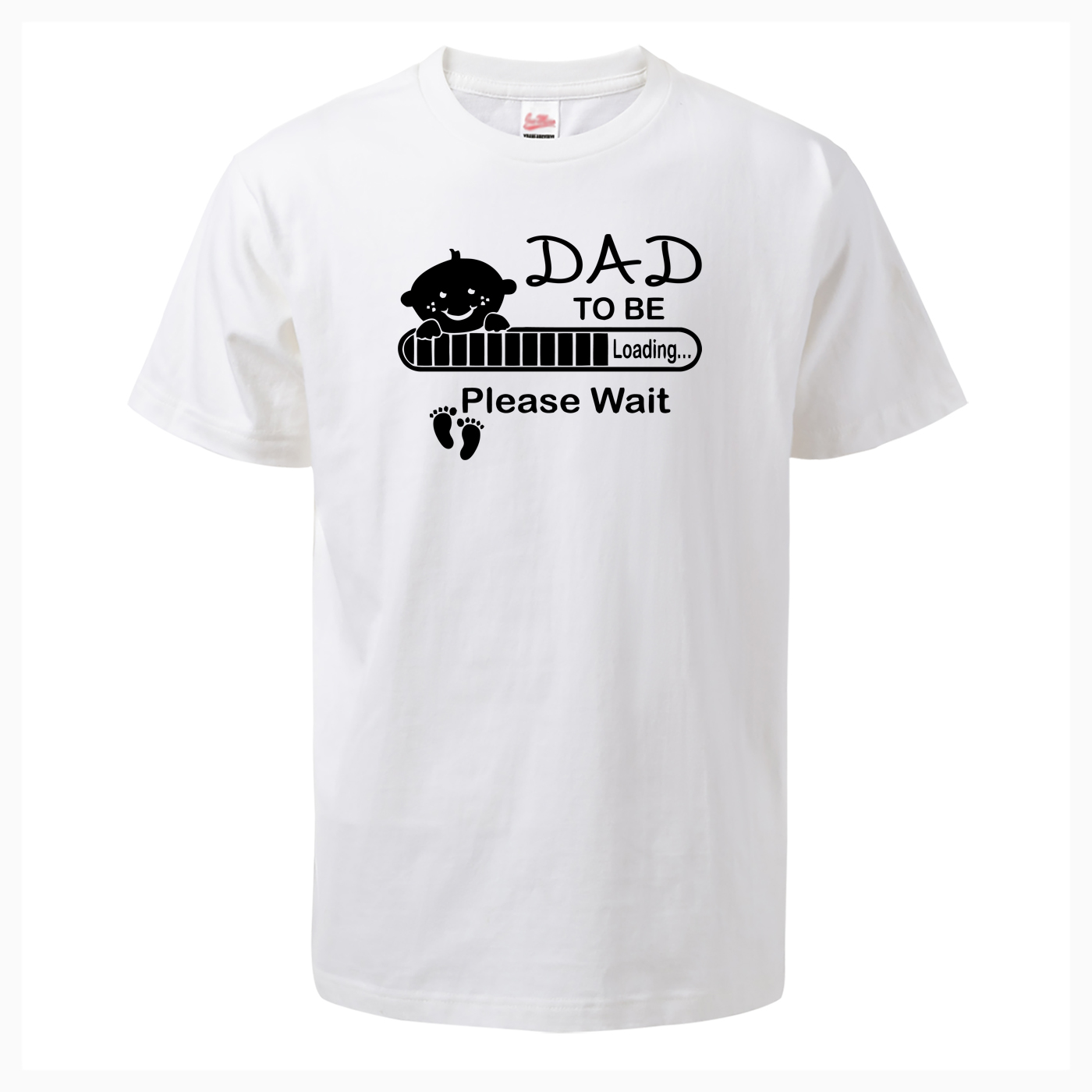 Dad To Be Loading Funny Expecting Baby 2019 Summer New Men T-Shirt Casual Cotton High Quality Loose Tops Tees Fitness Streetwear