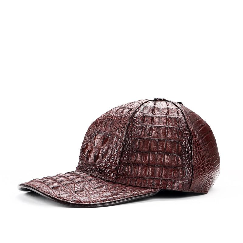 100% crocodile leather casual baseball cap unisex adjustable caps 2