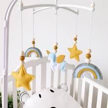 Brinquedos do bebê 0 12 meses berço móvel inserir chocalho para recém-nascido pendurado cama bell hairball nordic decorativo titular crianças recém-nascido