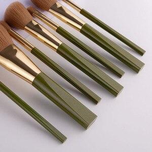 Image 2 - ANMOR 8Pcs Traveling Makeup Brushes Set Powder Blush Eye Shadow Blending Eyeshadow Make Up Brush Top Quality Pincel Maquiagem