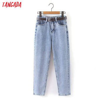 Tangada 2020 fashion women mom jeans pants   1