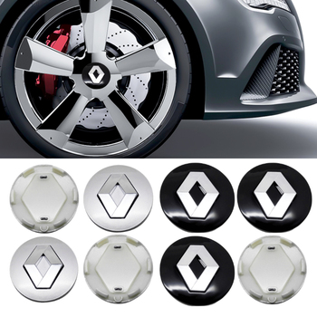 58mm Car Wheel Caps For Renault Clio Captur Duster Megane 2 Can Clip Trafic Scenic Fluence Laguna 3 Koleos Master Sandero Hubcap image