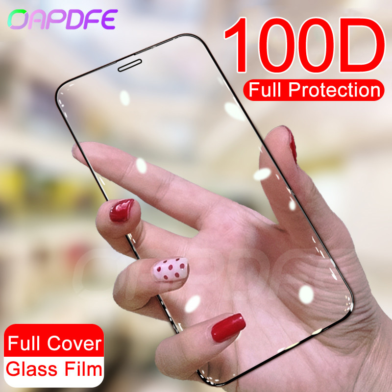 100D Protective Tempered Glass On The For IPhone 11 Pro X XR XS Max Glass Screen Protector For IPhone 8 7 6 6S Plus Safety Film