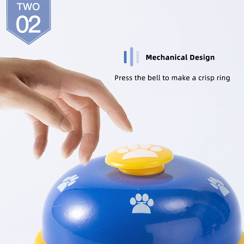Pet Training Supply Dog Call Bell Dog Training Equipment Interactive Bell Eating Food Feeder For Dog Training Communicate Device-4