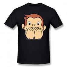 Curious George T Shirt George No Mouth T-Shirt Beach Male Tee Shirt Oversize Fun 100 Cotton Short Sleeve Print Tshirt