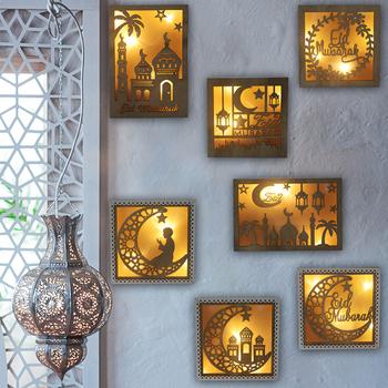 Eid Mubarak dekoracja do domu wisząca latarenka Ramadan Kareem muzułmanin Party Decor Eid światło Ramadan Mubarak prezenty Eid Al Adha tanie i dobre opinie meidding CN (pochodzenie) Drewno drewniane Id al-Fitr Na imprezę CHRISTMAS Walentynki Ślub wielkanoc New Year Rocznica