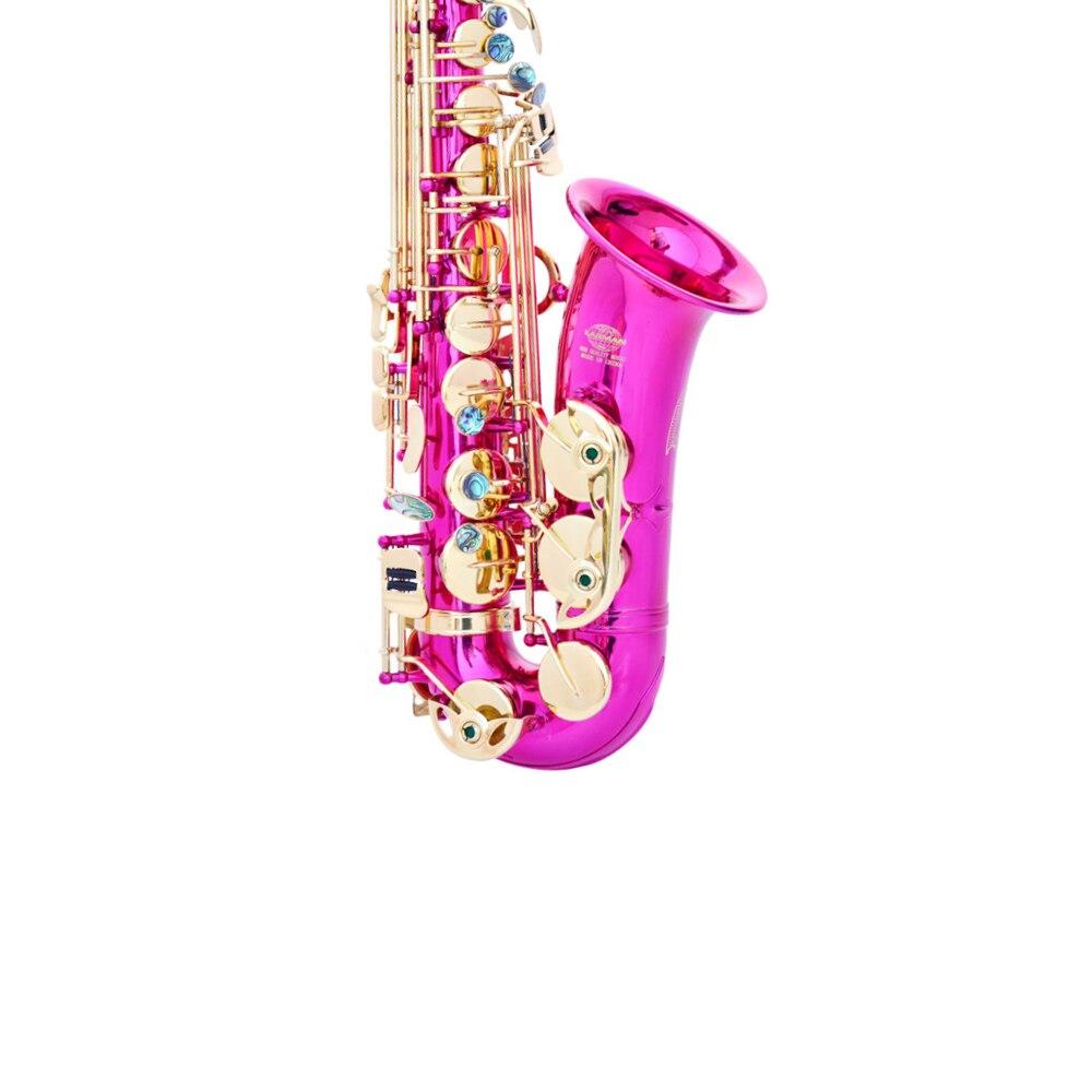 Venta caliente e-flat saxofón Alto 802 bond tipo Rosa rojo oro saxo tocando instrumentos musicales de latón de alta calidad saxofon regalo SAX07