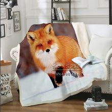 Одеяло sonspee с 3d принтом красная лиса диванная кровать стул