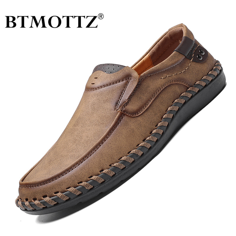 Genuine Leather Mens Shoes Casual Luxury Brand Men Loafers Fashion Breathable Driving Shoes Slip On Moccasins Size 38-48 BTMOTTZ