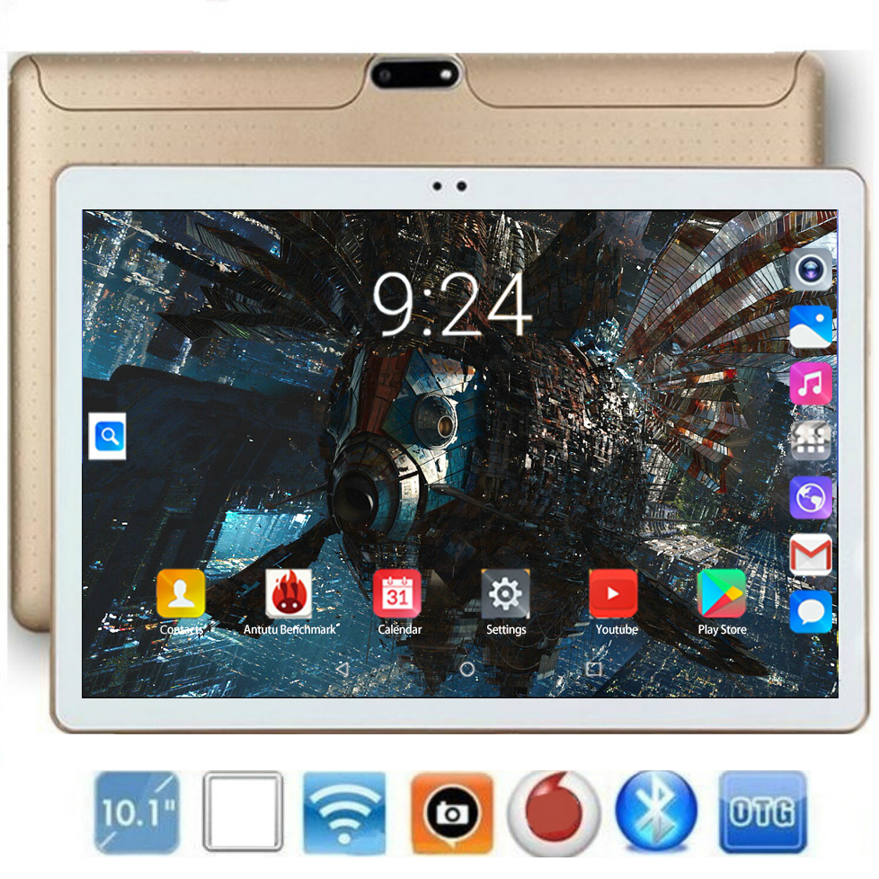 2020 10 Inch Octa Core Tablets Pc 6GB RAM 128GB ROM 1280*800 IPS Screen 5.0 MP WiFi Bluetooth GPS Android 8.0 Tablets For Kids