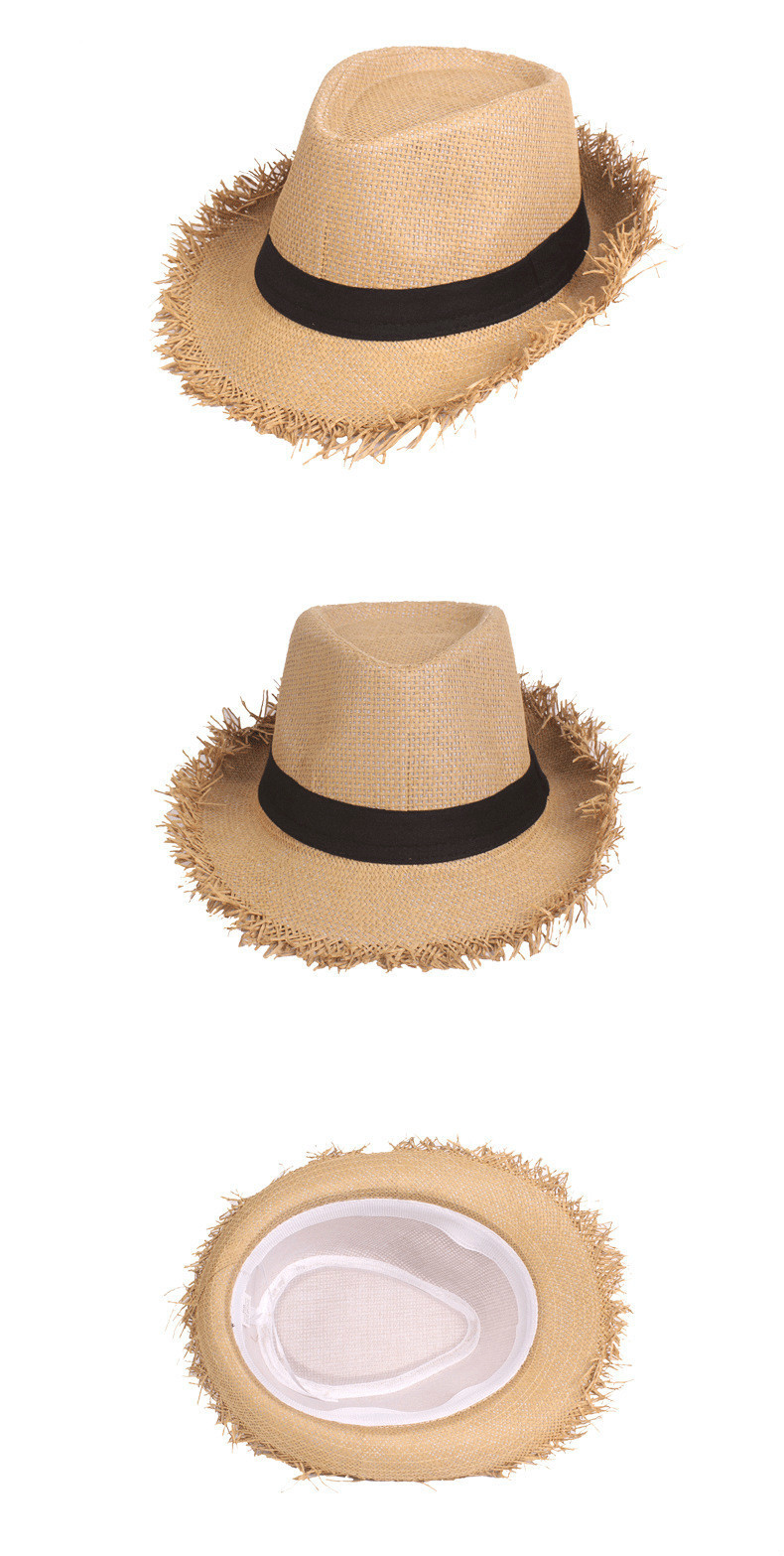 Sun Hat Summer Solid Color Fashion Summer Travel Round Holiday Sun Hat Beach Cowboy Hat