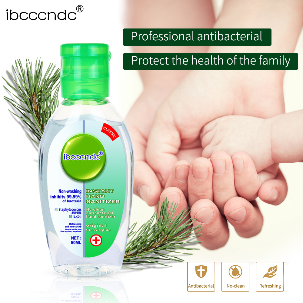 50ml Portable Instant Hand Sanitizer Antibacterial Gel 65% Disposable Waterless Hand Gel Handgel Disinfection Kids Adult